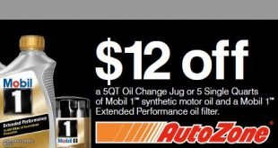 Mobil 1 oil coupon AutoZone